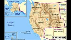 of west map west region of the united states of america u s regions
