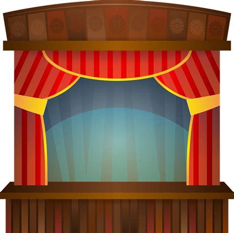 Tirai Teater gambar vektor gratis panggung teater menunjukkan