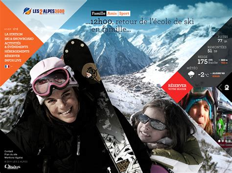 les deux alpes live web les 2 alpes ski resort on behance