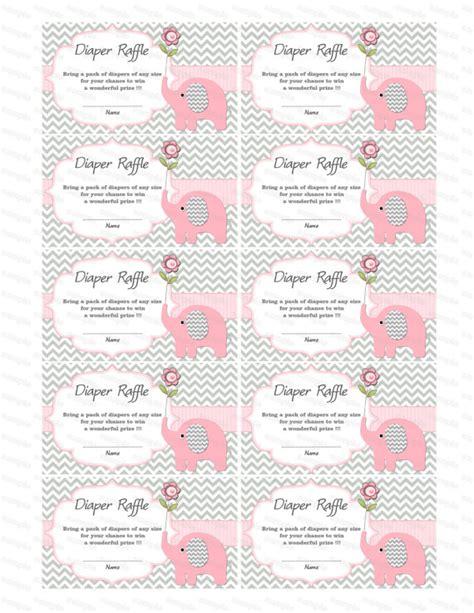 free printable diaper raffle tickets elephant baby shower games elephant baby shower diaper raffle ticket