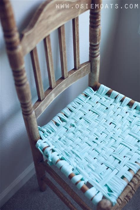 How To Weave A Chair Seat by Diy Woven Chair Seat Denim