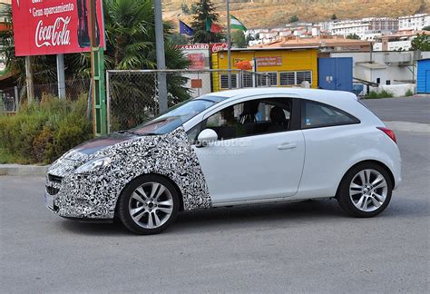 opel door spyshots 2014 opel corsa 3 door with major facelift