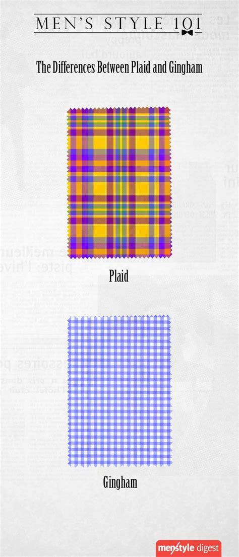 difference between plaid and tartan learn the differences between plaid and gingham patterns