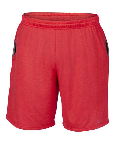 jersey knit shorts new gildan performance mens elasticated waist jersey knit