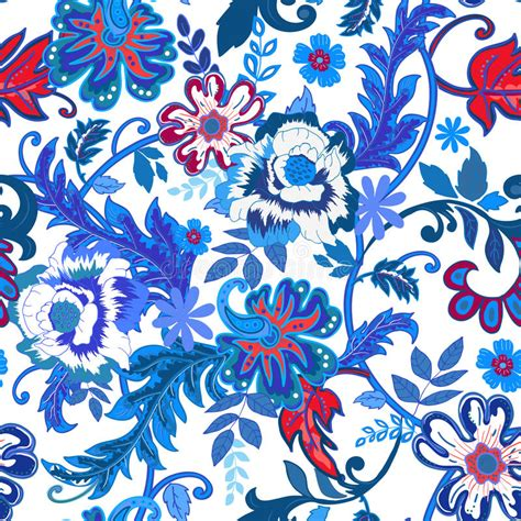 colorful floral design background illustrator vector seamless floral background colorful red and blue isolated
