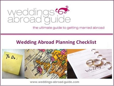 Wedding Checklist Abroad by Wedding Planner Wedding Planning Checklist Abroad