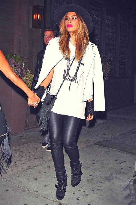 nicole scherzinger dinner  toca madera leather celebrities