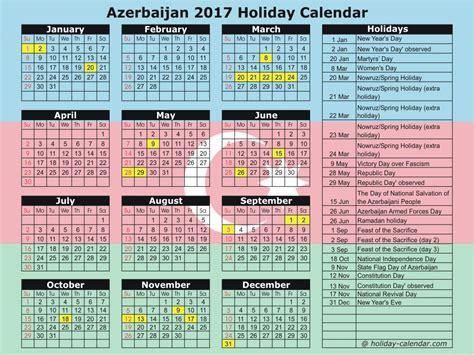 Azerbaijan Calend 2018 Azerbaijan 2017 2018 Calendar