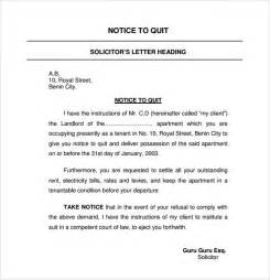 Notice To Quit Sle Letter by Notice To Quit Sle 9 Free Documents In Pdf
