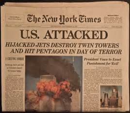 9 11 History Essay by Historic Newspaper 9 11 The Attack On The Towers And Pentagon The Mitchell Archives