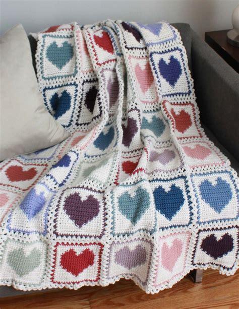 heart pattern afghan scrap hearts afghan pattern pdf