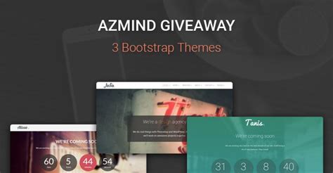 Giveaway Rules Template - azmind giveaway 2 wordpress themes 1 html5 template all made with bootstrap narga