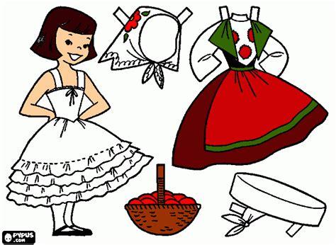 german doll coloring page printable german doll