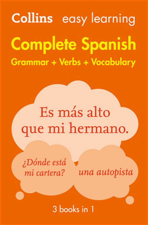 book details easy learning spanish complete grammar verbs and vocabulary 3 books in 1