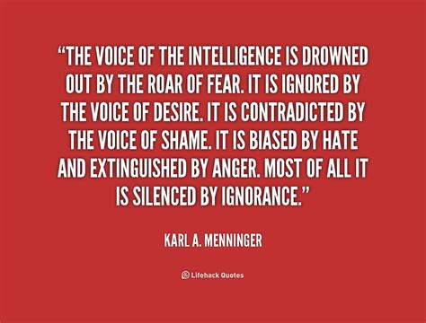 leadership of shame pleading ignorance of the after harming another in reprisal is no excuse books karl a menninger quotes quotesgram