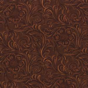 Faux Cowhide Fabric Upholstery Tooled Leather Cotton Quilt Fabric King Of The Ranch Moda