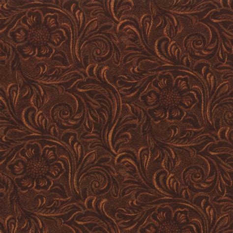 Quilting Leather by Tooled Leather Cotton Quilt Fabric King Of The By