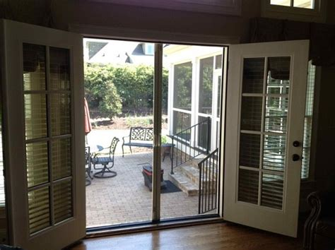 patio door with screen screen doors for doors install retractable