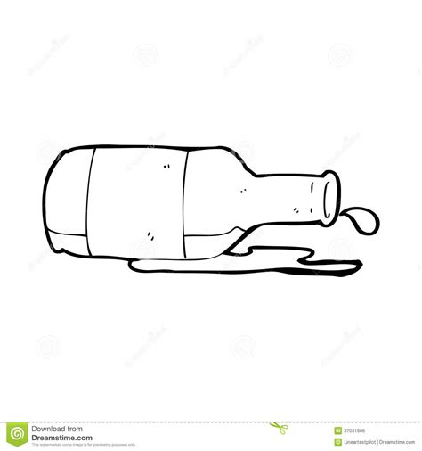cartoon beer black and white cartoon spilled beer stock illustration illustration of