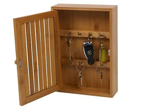 Key Holder Wall by Bamboo Wall Mounted Key Box Amp Brackets Cupboard Hooks