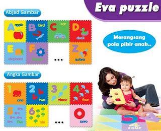 Puzzle Abjad Gambar laqori toys evamat puzzle alas anak lucu