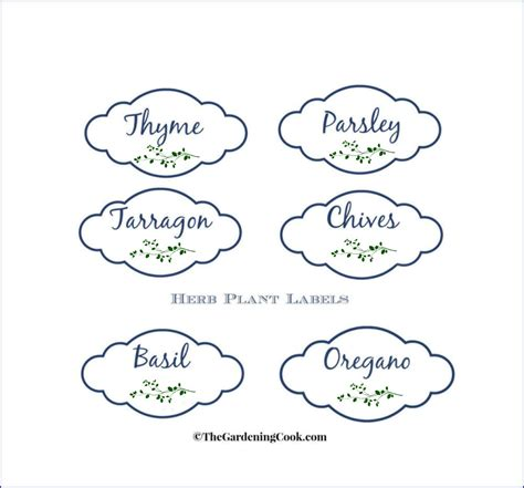 printable plant labels free herb plant labels for mason jars and pots the