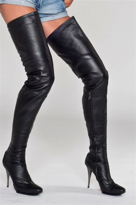 high boots arollo real leather thigh high boots