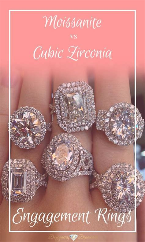 Best 25  Cubic zirconia engagement rings ideas on