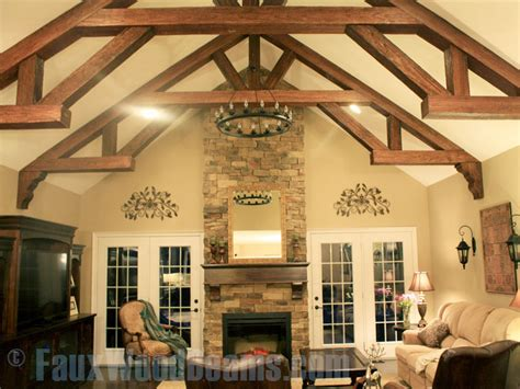 vaulted ceiling wood beams faux wood beam ideas for vaulted ceilings