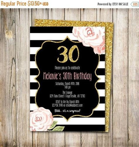 30 off weekend sale 30th birthday invitation birthday