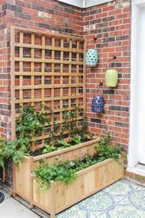 Trellis Planter Tiered Planter With Trellis Shades Of Blue Interiors