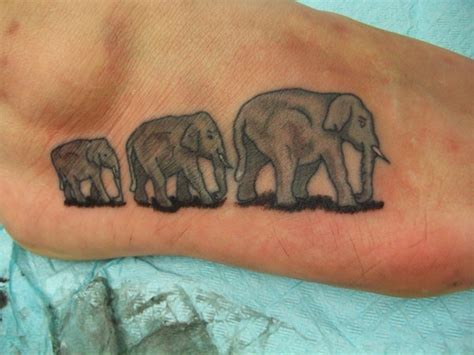 elephant ankle tattoo 30 elephant tattoos on foot