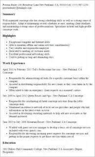 Concierge Resume Sle by Stunning Hotel It Manager Resume Gallery Best Resume