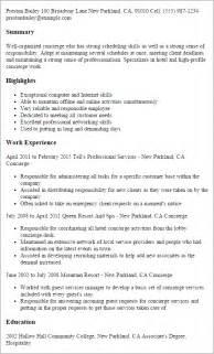 professional concierge templates to showcase your talent