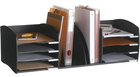 File Desk Organizer Desktop File Sorter In File And Mail Organizers