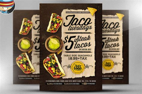 taco card template taco tuesday flyer templates 187 designtube creative