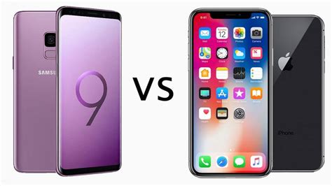 samsung galaxy s9 vs iphone x comparison review tech advisor