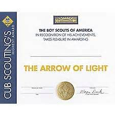 arrow of light certificate template printable arrow of light certificate template cub scout