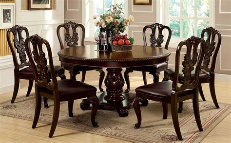 round dining room tables for 6 buy furniture of america cm3319rt w sc set bellagio round