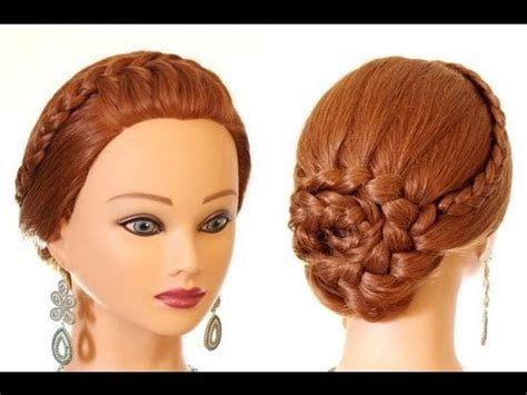 braided hairstyle for long hair updo hairstyles youtube