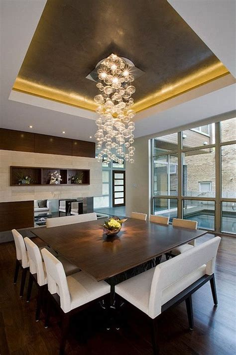 10 Superb Square Dining Table Ideas For A Contemporary Contemporary Lighting For Dining Room