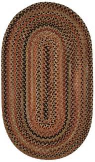 capel cotton braided wool country oval area rug reversible