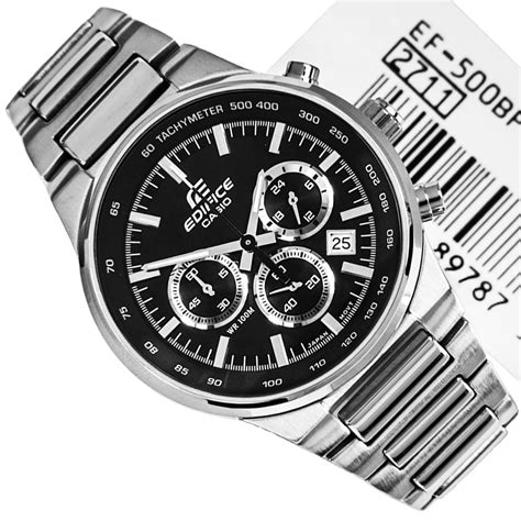 Casio Edifice Ef 500 Black Oribm by Casio Edifice Chronograph Black Mens Ef 500bp