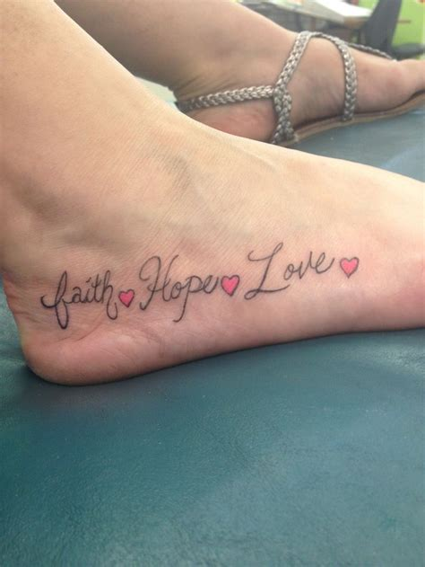 love tattoo on foot faith hope love tattoo on foot ideas tattoo collection