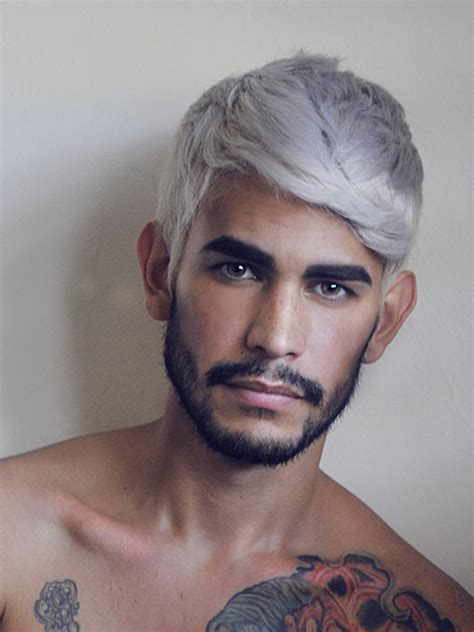 trend gray platinum hair men 2014 men s hair color trends pouted online magazine