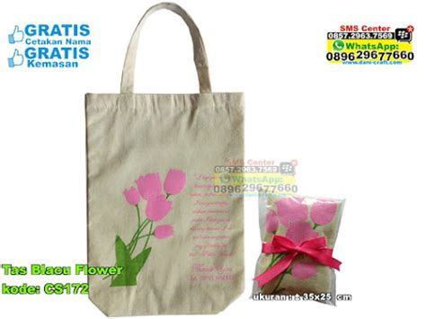Tas Blacu Sovenir Pernikahan Sovenir Ulang Tahun Tote Bag tas blacu flower souvenir pernikahan
