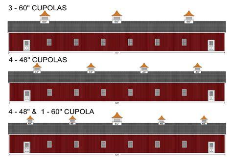 Metal Cupola Kits Cupola Kits Cupola Sizing Diagrams Based On Roof Sizes