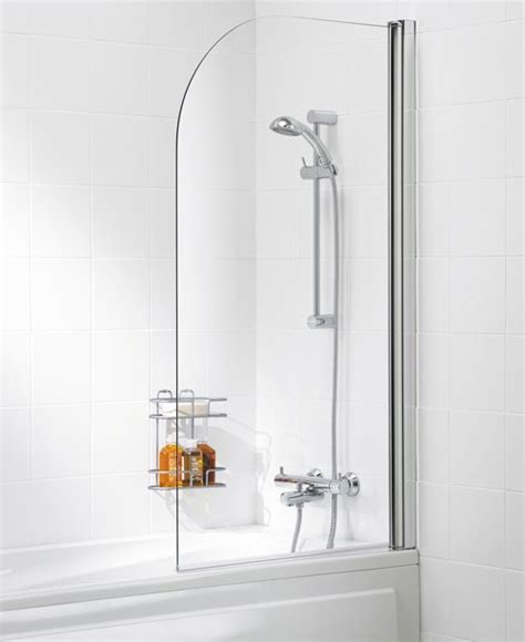 The Kitchen Collection Inc Lakes Curved Bath Shower Screen 800mm 8mm Glass Bs810 05