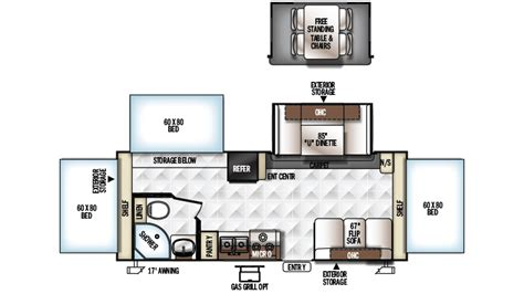 Rockwood Roo Floor Plans by 2018 Forest River Rockwood Roo 233s Model