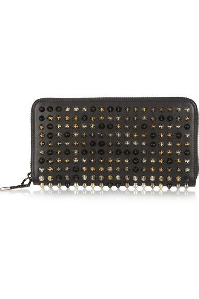 christian louboutin panettone spiked leather wallet net a porter